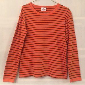Hanna Andersson orange striped long sleeve t-shirt